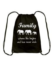Elephant family t shirt phone case mug Drawstring Bag thumbnail