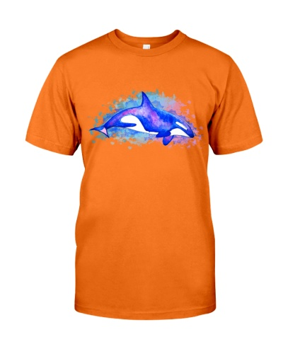 Orca whale art water color painting t shirt mug