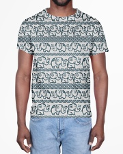 Ethnic elephant motifs All-over T-Shirt aos-all-over-T-shirt-lifestyle-front-02