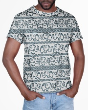 Ethnic elephant motifs All-over T-Shirt aos-all-over-T-shirt-lifestyle-front-03