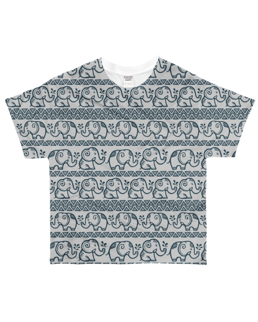 Ethnic elephant motifs All-over T-Shirt