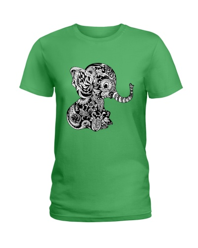 baby elephant zentangle t shirt tee mug