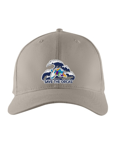 Save the orcas Embroidered whale hat