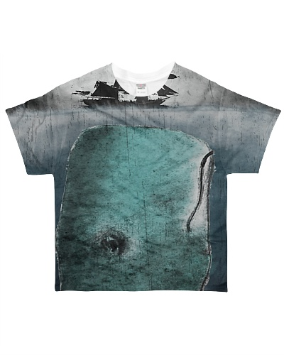 Whale Paiting All over tshirt tee shirt