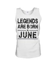 Legends are born in June Unisex Tank thumbnail