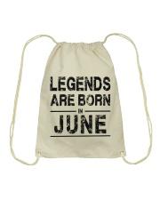 Legends are born in June Drawstring Bag thumbnail