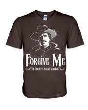 Forgive Me If I Don't Shake Hands V-Neck T-Shirt thumbnail