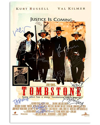 Tombstone Justice is coming cast signed poster 2