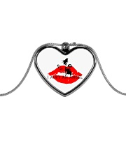 I Aint an Angel Metallic Heart Necklace front