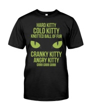 Hard Kitty Cold Kitty funny T-shirt Classic T-Shirt front