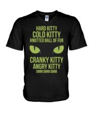 Hard Kitty Cold Kitty funny T-shirt V-Neck T-Shirt thumbnail