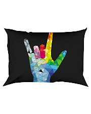 ASL Love Hand Art Rectangular Pillowcase thumbnail