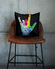 ASL Love Hand Art Square Pillowcase aos-pillow-square-front-lifestyle-04