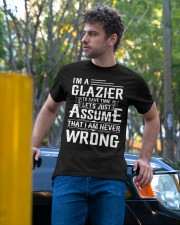 Glazier - I Am A Glazier - I never Wrong Classic T-Shirt apparel-classic-tshirt-lifestyle-front-44