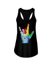 ASL Love Ladies Flowy Tank thumbnail