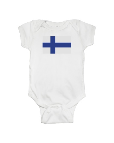 Black Finnish Flag TShirts