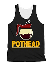 POTHEAD  Coffee Lover- Asst Colors - Unisex Hoodie All-over Unisex Tank thumbnail