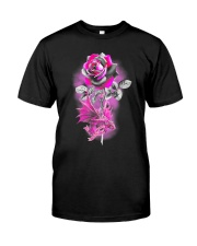 Rose Dragon Breast Cancer Classic T-Shirt front