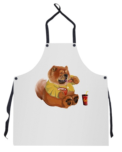 Unisex Kitchen Apron with Chow Chow Design