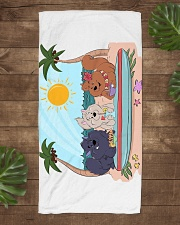 ChowChow Beach Towel Beach Towel aos-towelbeach-vertical-front-lifestyle-1