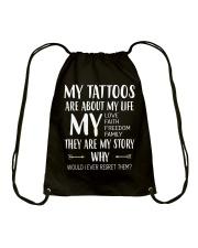I LOVE MY TATTOOS Drawstring Bag thumbnail