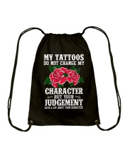 I LOVE MY TATTOOS Drawstring Bag tile