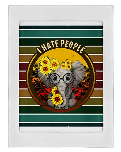 Home and living-I hate people sunflower vintage