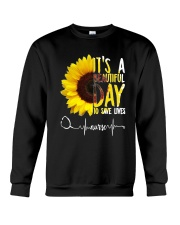 TB0509 - It's beautiful day to save lives Crewneck Sweatshirt thumbnail