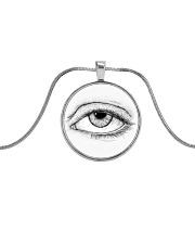 Eye of God Metallic Circle Necklace thumbnail