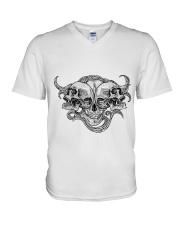 The composition of skulls V-Neck T-Shirt thumbnail