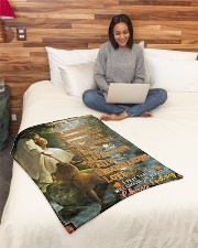 """JES10067BL - Daughter Choose The Beauty Small Fleece Blanket - 30"""" x 40"""" aos-coral-fleece-blanket-30x40-lifestyle-front-08"""