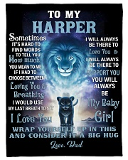 """FBC10007N - To My Harper Lion Dad Letter Small Fleece Blanket - 30"""" x 40"""" front"""