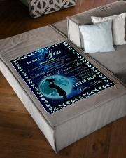 "FBC10035 - To My Son Sometime Small Fleece Blanket - 30"" x 40"" aos-coral-fleece-blanket-30x40-lifestyle-front-03"