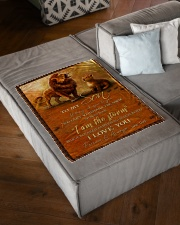 """FBC10051 - Son Love You Forever Always Small Fleece Blanket - 30"""" x 40"""" aos-coral-fleece-blanket-30x40-lifestyle-front-03"""