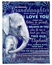 "BL10008 - Granddaughter Elephant Christmas Small Fleece Blanket - 30"" x 40"" front"