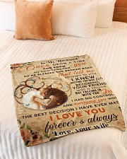 """BL10069 - To My Husband Once Upon A Time Small Fleece Blanket - 30"""" x 40"""" aos-coral-fleece-blanket-30x40-lifestyle-front-01"""