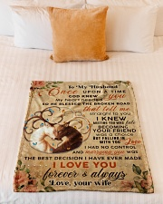 """BL10069 - To My Husband Once Upon A Time Small Fleece Blanket - 30"""" x 40"""" aos-coral-fleece-blanket-30x40-lifestyle-front-04"""