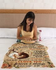 """BL10069 - To My Husband Once Upon A Time Small Fleece Blanket - 30"""" x 40"""" aos-coral-fleece-blanket-30x40-lifestyle-front-12"""