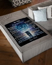 """FBC10007P - Lion To My Daughter - Personalized Small Fleece Blanket - 30"""" x 40"""" aos-coral-fleece-blanket-30x40-lifestyle-front-03"""