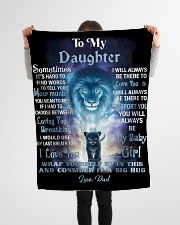 """FBC10007P - Lion To My Daughter - Personalized Small Fleece Blanket - 30"""" x 40"""" aos-coral-fleece-blanket-30x40-lifestyle-front-14"""