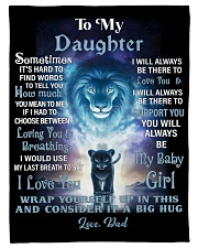 """FBC10007P - Lion To My Daughter - Personalized Small Fleece Blanket - 30"""" x 40"""" front"""