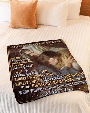 "JES10041BL - Jesus Christ  Small Fleece Blanket - 30"" x 40"" aos-coral-fleece-blanket-30x40-lifestyle-front-01"