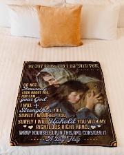 "JES10041BL - Jesus Christ  Small Fleece Blanket - 30"" x 40"" aos-coral-fleece-blanket-30x40-lifestyle-front-04"