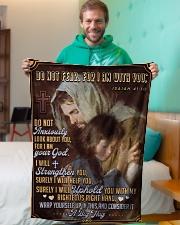 "JES10041BL - Jesus Christ  Small Fleece Blanket - 30"" x 40"" aos-coral-fleece-blanket-30x40-lifestyle-front-09"
