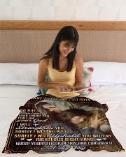 "JES10041BL - Jesus Christ  Small Fleece Blanket - 30"" x 40"" aos-coral-fleece-blanket-30x40-lifestyle-front-12"