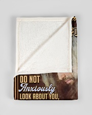 "JES10041BL - Jesus Christ  Small Fleece Blanket - 30"" x 40"" aos-coral-fleece-blanket-30x40-lifestyle-front-17"