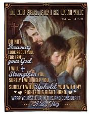 "JES10041BL - Jesus Christ  Small Fleece Blanket - 30"" x 40"" front"