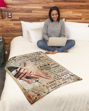 """BL10027 - My Beloved Husband Once Upon A Time Small Fleece Blanket - 30"""" x 40"""" aos-coral-fleece-blanket-30x40-lifestyle-front-08"""