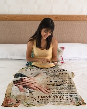 """BL10027 - My Beloved Husband Once Upon A Time Small Fleece Blanket - 30"""" x 40"""" aos-coral-fleece-blanket-30x40-lifestyle-front-12"""