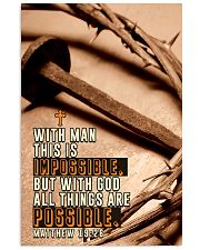 JES10027PT - Jesus Christ All Things Possible 11x17 Poster front